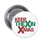 Keep the X in Xmas Badge