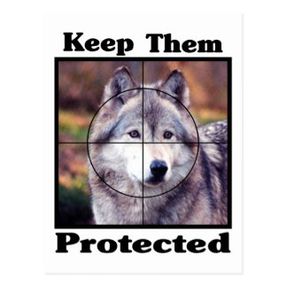 Keep them Protected - Wolf Postcard