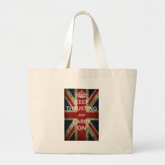 KEEP THRUSTING AND CARRY ON TOTE BAGS