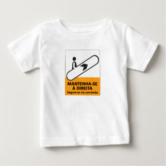 Keep to the Right, Sign, Brazil Baby T-Shirt