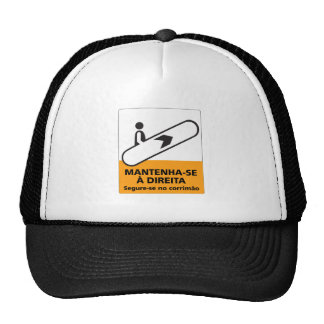 Keep to the Right, Sign, Brazil Mesh Hat