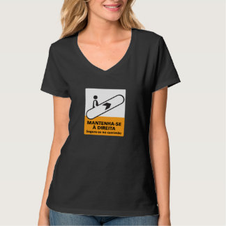 Keep to the Right, Sign, Brazil T-Shirt