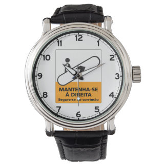 Keep to the Right, Sign, Brazil Wristwatch