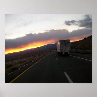 Keep Trucking Poster
