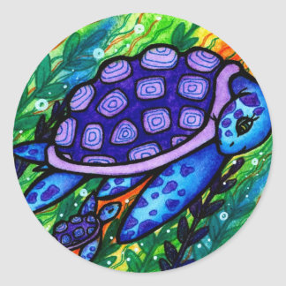 """Keep Up!"" Sea Turtle and Baby Stickers"