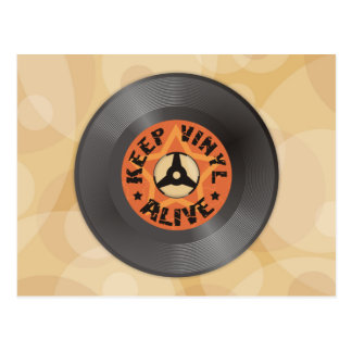 Keep Vinyl Alive Postcard