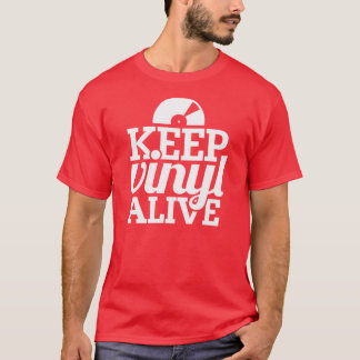 Keep Vinyl Alive T-Shirt - Dj's, Mixing - Red