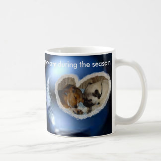 Keep warm during the season basic white mug