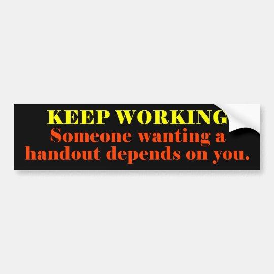 keep_working bumper sticker
