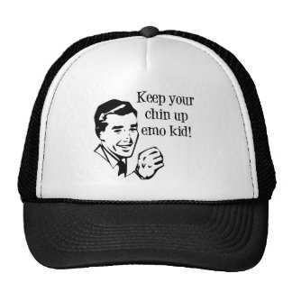 Keep Your Chin Up Emo Kid! Hats