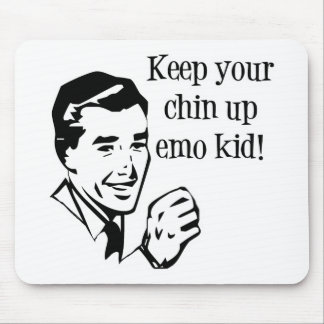 Keep Your Chin Up Emo Kid Mousepad