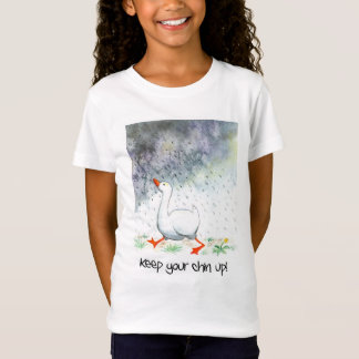 'Keep Your Chin Up!' Girl's T-shirt