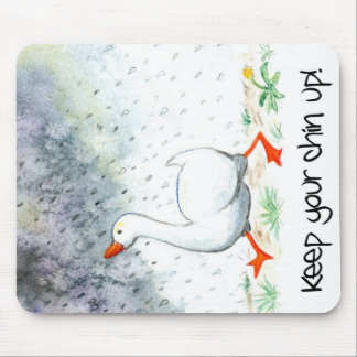 'Keep Your Chin Up!' Mousepad