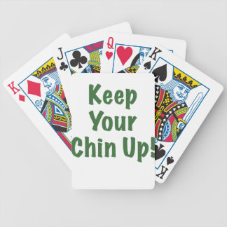 Keep Your Chin Up Bicycle Poker Cards