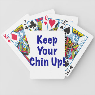 Keep Your Chin Up Bicycle Poker Deck