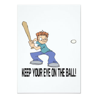 Keep Your Eye On The Ball 5x7 Paper Invitation Card