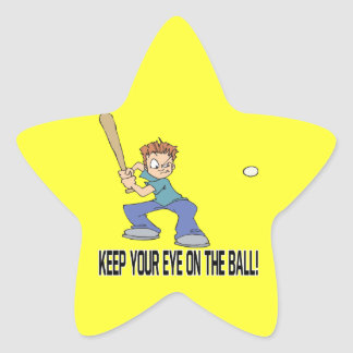 Keep Your Eye On The Ball Star Sticker