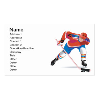 Keep Your Eye On The Puck Double-Sided Standard Business Cards (Pack Of 100)
