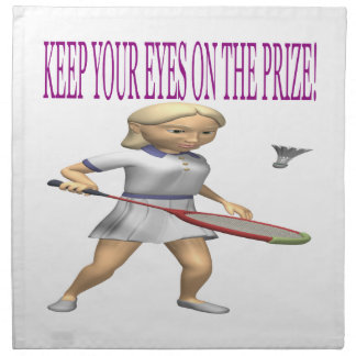 Keep Your Eyes On The Prize Printed Napkins