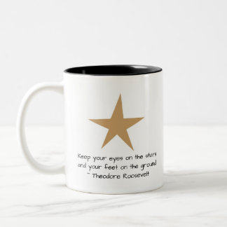 Keep Your Eyes on the Stars Custom Quote Star Mug