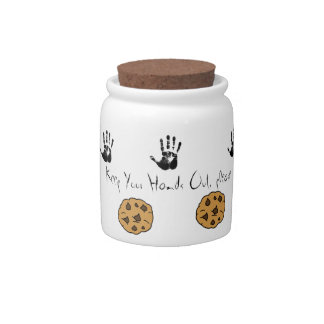 Keep Your Hands Out please Candy Jar