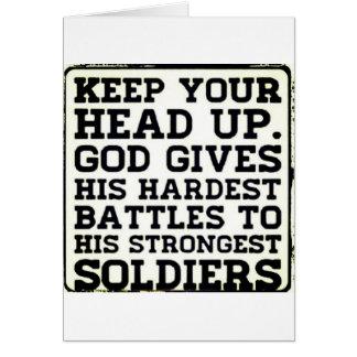 Keep your Head up Card