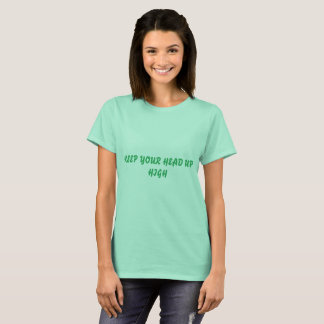 KEEP YOUR HEAD UP HIGH CLEAN MINT BASIC T-SHIRT