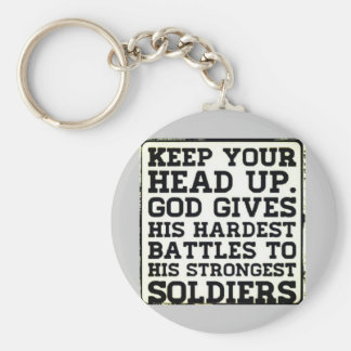 Keep your Head up Key Ring