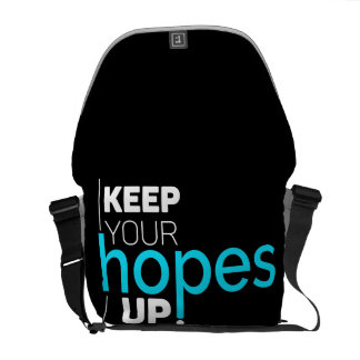 Keep Your Hopes Up Typography Commuter Bag