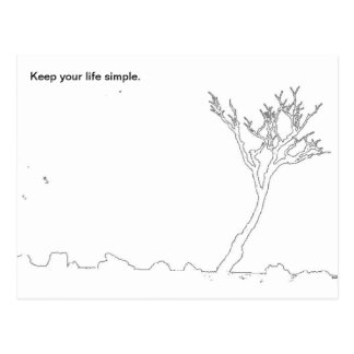 Keep your life simple postcard