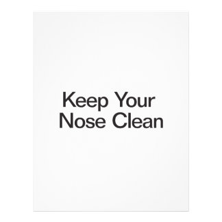 Keep Your Nose Clean Flyer