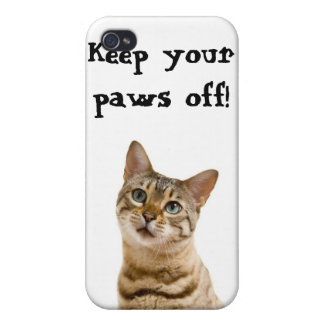 Keep your paws off my  cover for iPhone 4