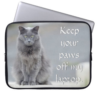 """Keep your paws off"" Neoprene Laptop Sleeve"