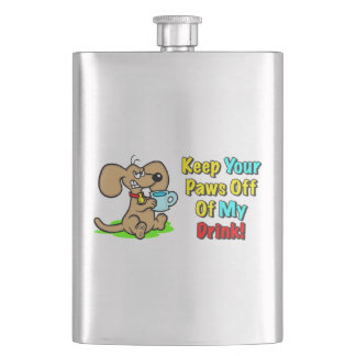 """Keep Your Paws Off Of My Drink!"" Flask"