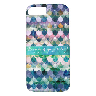 Keep your spirit salty- Mermaidscale Scale Pattern iPhone 7 Case