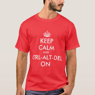 Keepcalm and ctrl on tee shirt