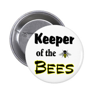keeper of the bees 6 cm round badge