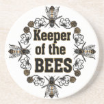 keeper of the bees drink coaster