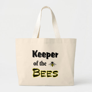 keeper of the bees jumbo tote bag