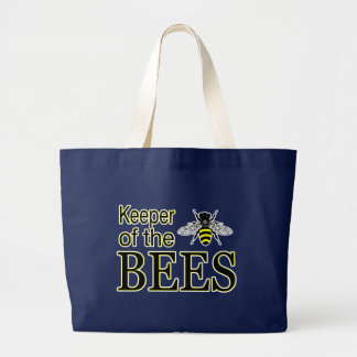 KEEPER OF THE BEES LARGE TOTE BAG