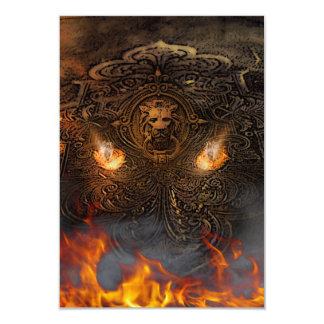 Keeper Of The Secret From Hell 9 Cm X 13 Cm Invitation Card