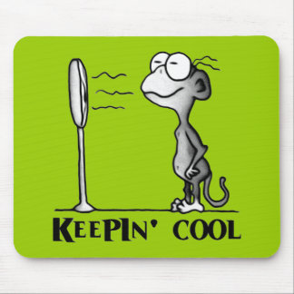 Keepin' Cool Monkey Mouse Pad