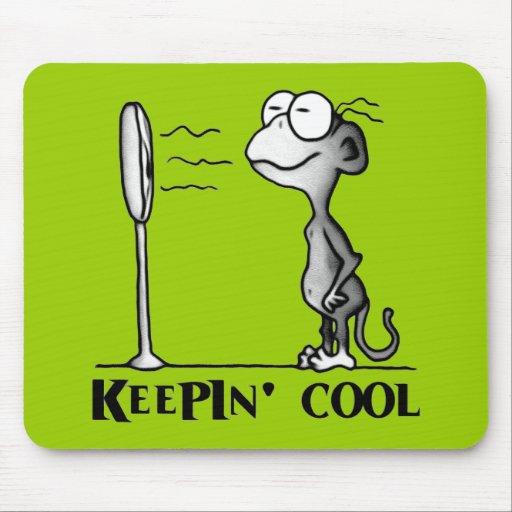 Keepin' Cool Monkey Mousepad