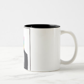 Keepin' it Classy (peace) Two-Tone Coffee Mug