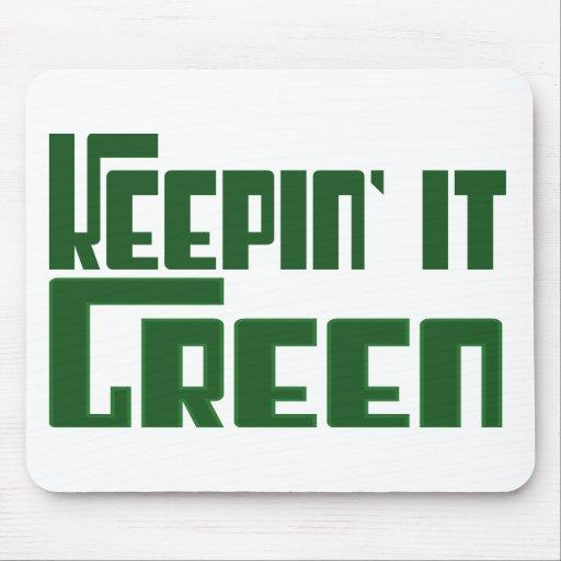 Keepin' it Green Mouse Mats