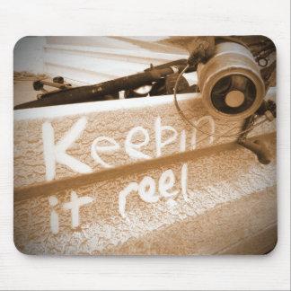 Keepin it Reel brown beige beach ute fishing rod Mouse Pad