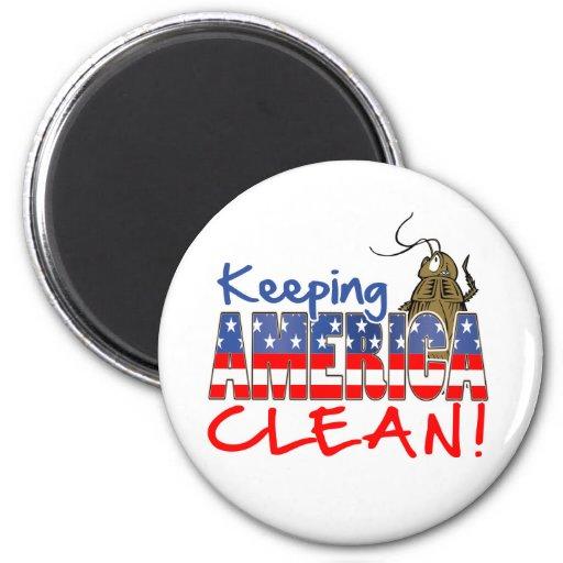 KEEPING AMERICA CLEAN FRIDGE MAGNET