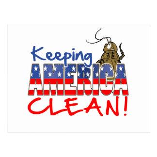 KEEPING AMERICA CLEAN POSTCARD