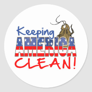 KEEPING AMERICA CLEAN ROUND STICKERS