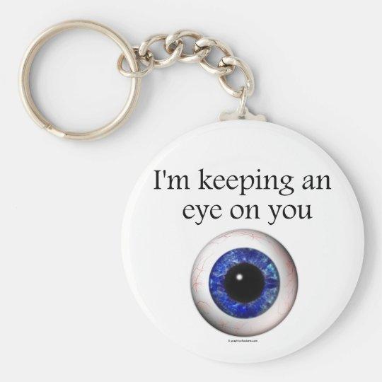 Keeping an Eye on You Keyring Basic Round Button Key Ring